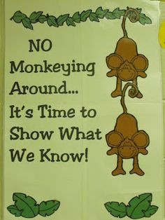 First Grade a la Carte: No Monkeying Around More