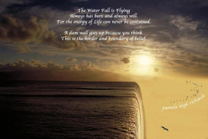 Flying Quotes Water fall flying pamela quote