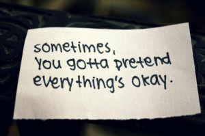 Everything's Okay Depression Overcoming Depression Quotes
