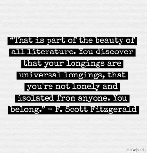 Wise words from F. Scott Fitzgerald #literature #quotes