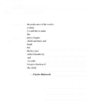 Bukowski Quotes Bukowski