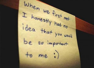 When we first met Sweet Love Quotes