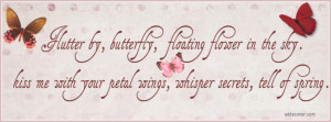 Flutter By Butterfly Facebook Cover
