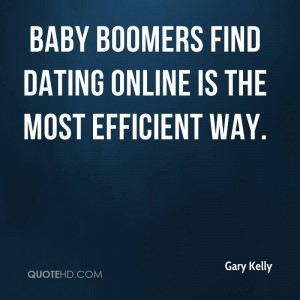Baby boomers find dating online is the most efficient way.