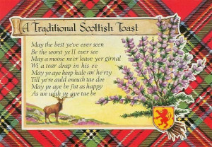 Traditional Scottish toast
