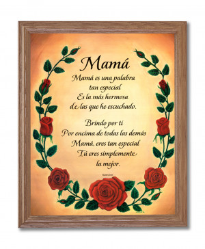 Love You Mom Poems Hispanic motivational mom i love you poem wall ...