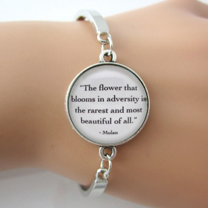 ... Mulan 'The flower that blooms in adversity' Quote ,Women Faith Learn