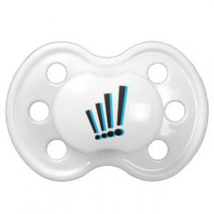 Exclamation Point Action Symbol Pacifier