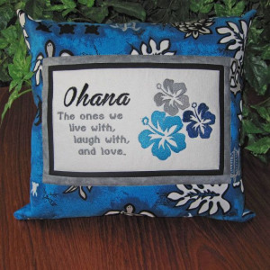 Ohana, Family Embroidered Quote Pillow by MrsStitchesDesigns on Etsy ...
