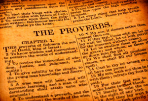 Book Of Proverbs From the book of proverbs