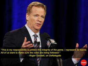 NFL commissioner Roger Goodell speaks during a press conference for ...