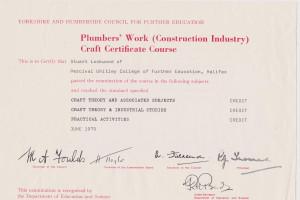 Plumbing Craft Certificate in Plumbing