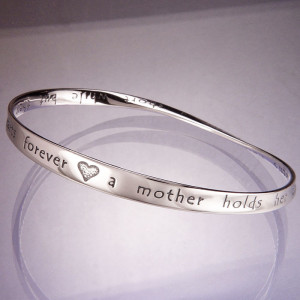 ... | Mothers Jewelry | A Mother Holds Her Childrens Hand Quote Bracelet