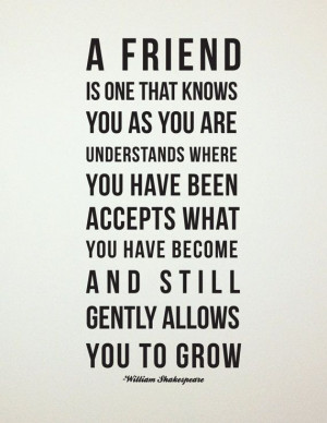 Shakespeare Friendship Quote // Best Friend Gift // Maid of Honor or ...