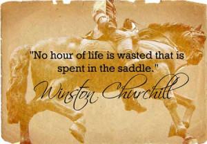 Winston Churchill Horse Quote -