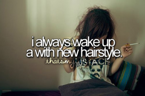 funny, funny quote, hair, hairstyle, hilarious, lol, make me laugh ...