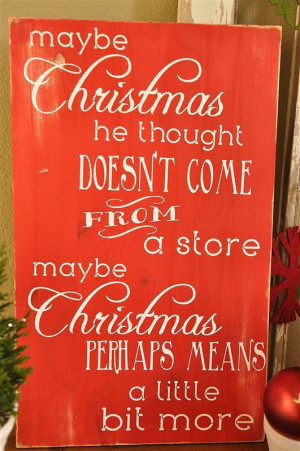 Dr. Seuss Christmas Quote Vinyl Lettering by yourhomebasedmom, $22.00
