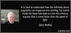 It is hard to understand how this infinitely dense singularity can ...