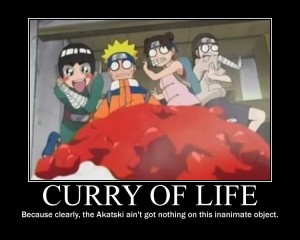 Curry motivational poster by Idoshi
