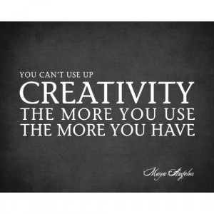 You Can't Use Up Creativity (Maya Angelou Quote), premium wall decal