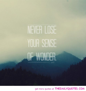 Losing A Best Friend Quotes And Sayings Never-lose-sense-wonder-quotes ...