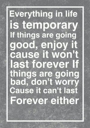Nothing Lasts Forever ...