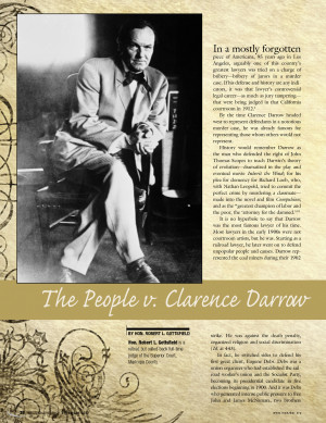 Clarence Darrow Quotes The people v clarence darrow - for lawyers