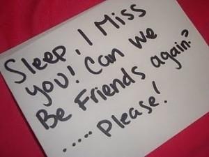 Dear Sleep,