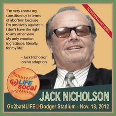 Jack Nicholson's mother didn't abort him but adopted him out. What a ...