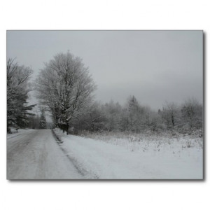 Winter Scene Andrew Wyeth Quote Post Card