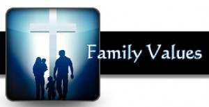 Christian Family Jesus' family values by