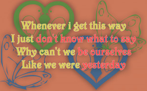 Bizarre Love Triangle - Frente Song Lyric Quote in Text Image