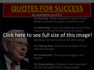 Success Quote By Warren Buffett Quotes (id: 118786)