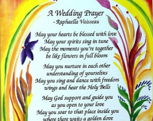 WEDDING PRAYER 8x10 Marriage Print Original Poetry Inspirational Quote ...