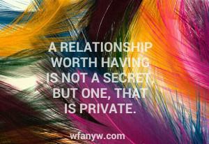 relationship worth having