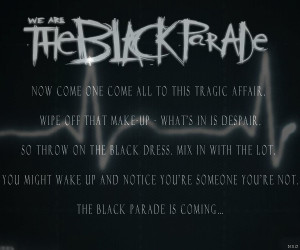 THE BLACK PARADE -Wallpaper- by RomancedWithWhispers