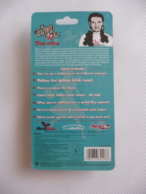 DOROTHY Wizard of OZ -Talking Keychain 7 quotes/sayings