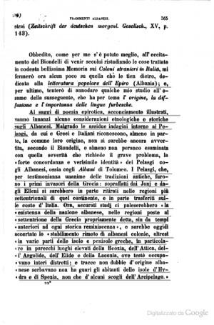 Lettura popolare dell Epiro ( albania)
