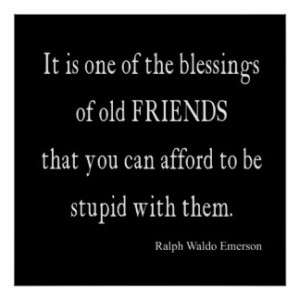 Vintage Emerson Friendship Blessing Quote Posters