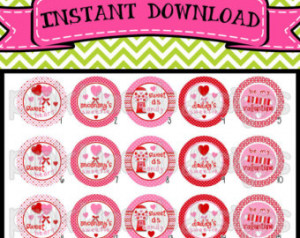 Valentine Candy - cute sayings and sweet candy - INSTANT DOWNLOAD 1 ...