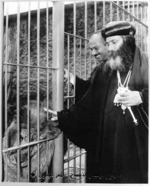 Pope Shenouda III, Father of All Africa, with the mark of the see of ...