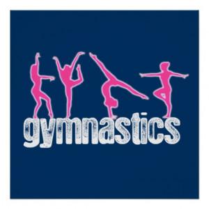 Gymnastics 4 Poses Poster