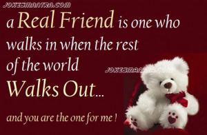 Sharing an awesome pic on friendship with a sweet saying, Share with ...