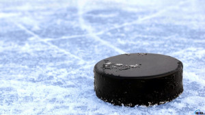 Download wallpaper Hockey puck on ice: