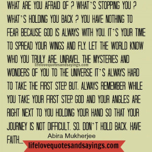 What are you afraid of..