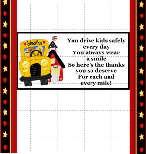 ... Posters School Bus Driver Thank You Quotes Bus Driver Poems And Quotes