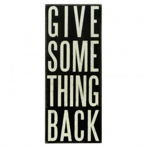 Give Back Box Sign