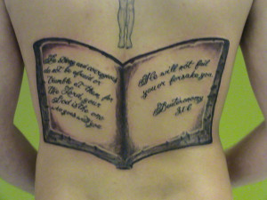 Biblical tattoos quotes quotesgram for Tattoos good or bad bible