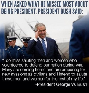 What George W. Bush Said About Saluting Our Military Shows Us What a ...