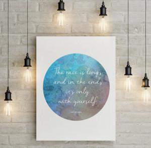 Baz Luhrmann 'The race is long' Quote Motivational Inspirational ...
